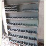Shelf and bins