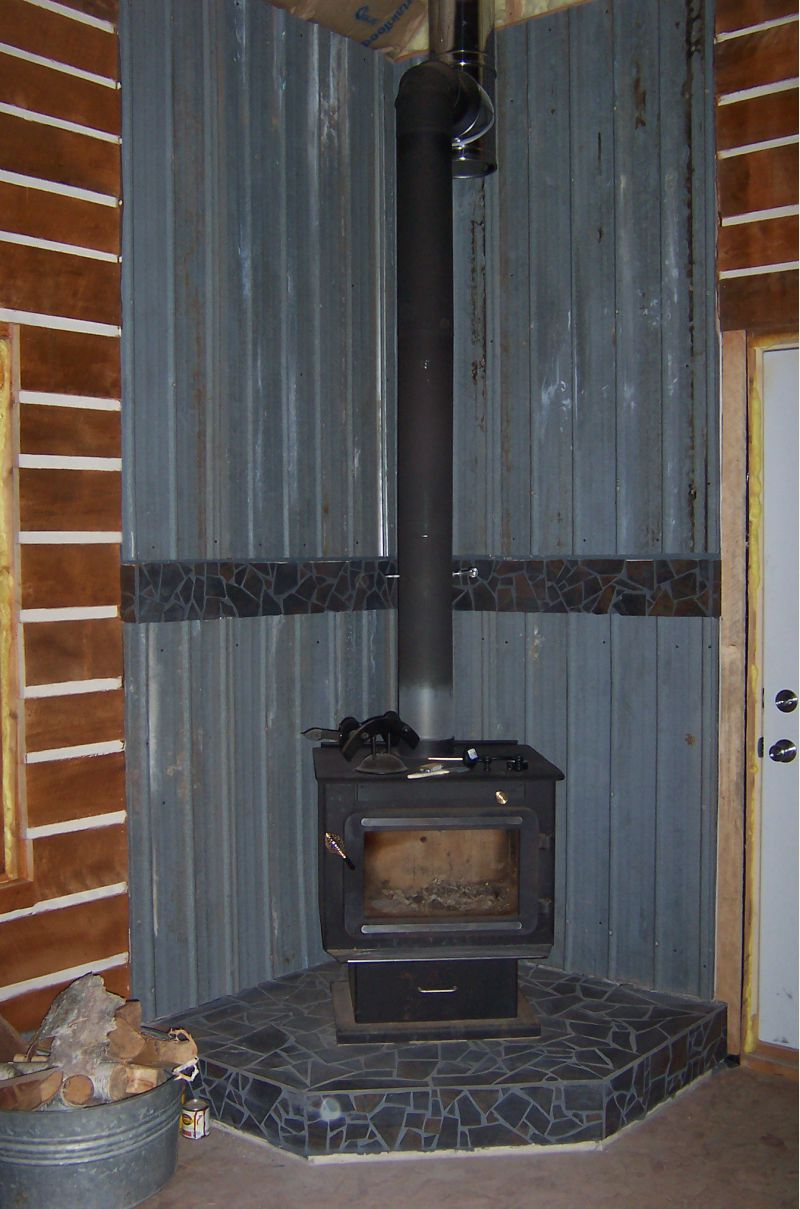 Here is our wood stove. - Small Cabin Wood Stove Setup - Small Cabin Forum (3)