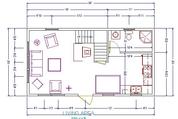 Pdf 16 x 24 cabin floor plans plans free for 12x24 cabin floor plans