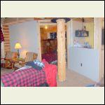 livingroom and bedroom, also kitchen