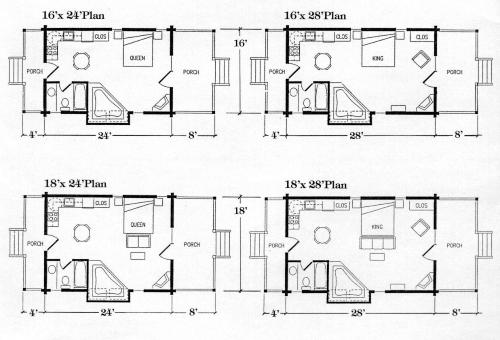 Small Cabin Plans 16 X 24 Cabin floor plan