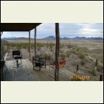 view from main porch..Big Bend Nat Park on horizon