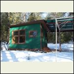 Small Cabin in Winter - Front
