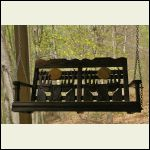 Amish made porch swing stained early american