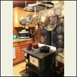 Cabin kitchen stove