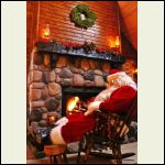 Santa's cabin visit