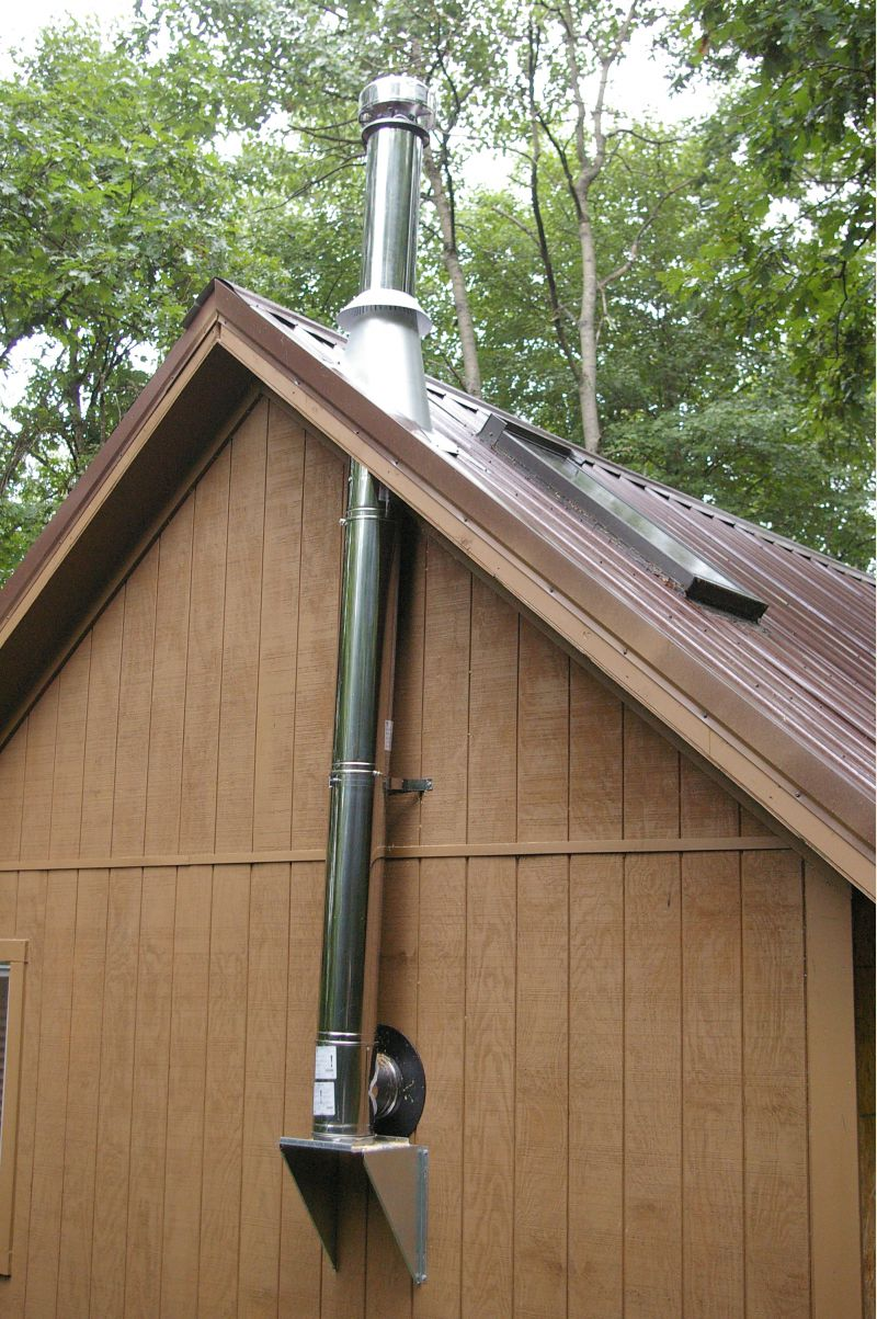 Wood Stove Chimney Flasing Attachment For Roof Small
