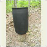 Rain barrel is now opaque