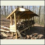 Firewood shelter roof extension