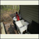 Full water barrels survived hard freeze