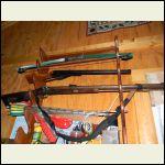 Old kit Hawken rifle