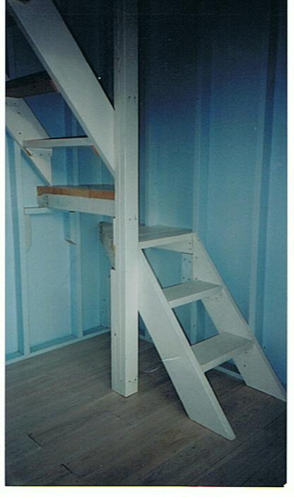 Cabins loft stairs small stairs ideas attic stairs ideas tiny house loft bedrooms small - Attic stairs for small spaces style ...