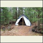 Before - temporary storage tent