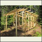 Storage shed build