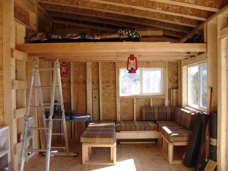 Free small shed loft mak - Loft house plans inside staircase ...