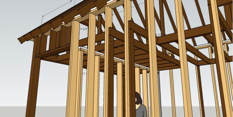 Fledgling Design 16x12 Interior 5x12 Deck Two 12x8 Loft
