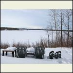chairs and snowshoes
