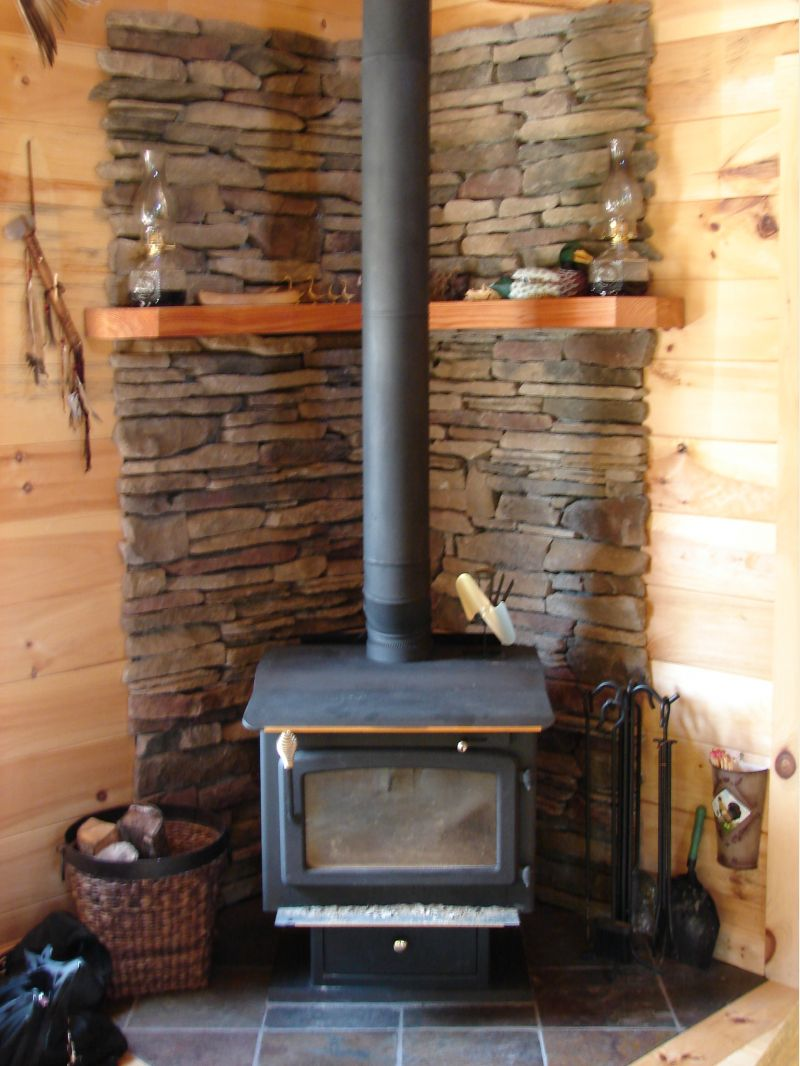 Wood stove surround ideas - Upstate Ny Cabin Amp Question About Water Pumps Small Cabin Forum