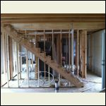 Stairs and rough plumbing