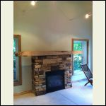 low voltage lighting and fireplace
