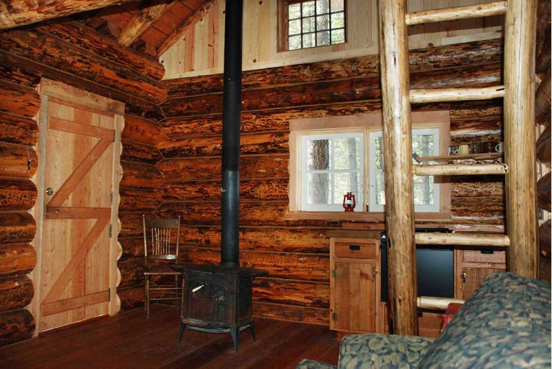 Woodstove near door - Wood Stove Details - Small Cabin Forum