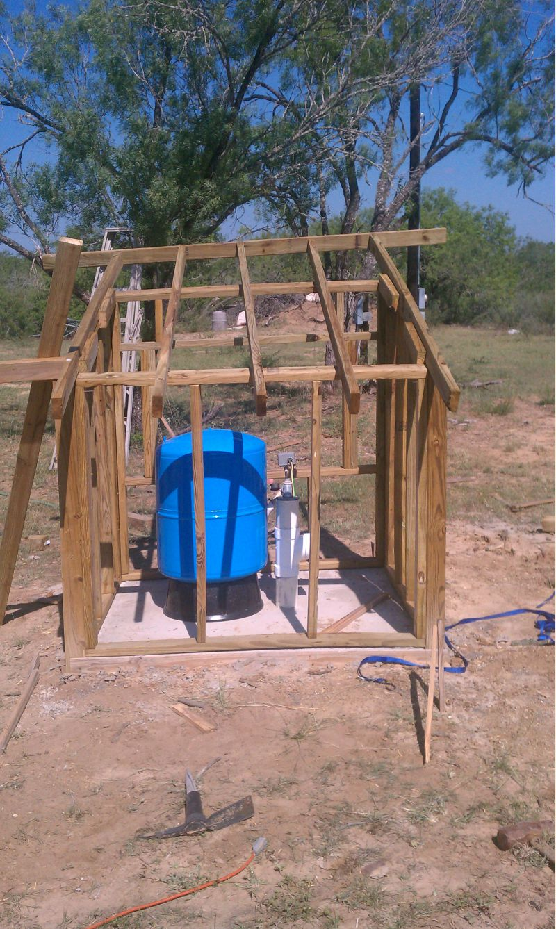 Water well shed-first build - Small Cabin Forum