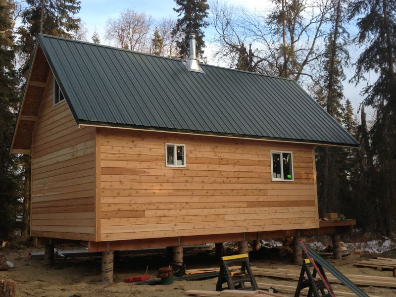 New 16x24 cabin going up in Alaska - Small Cabin Forum (2)