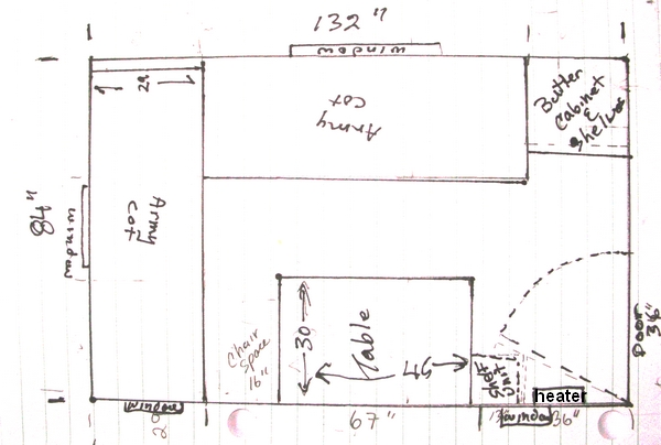 Share your floorplan sketch small cabin forum for 16x24 cabin floor plans