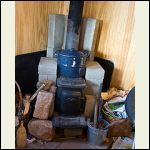 wood stove with thermal mass