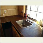 Countertop stained