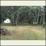 View of the cleared property