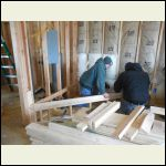 Building the Hearth for the Fireplace