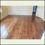 Bedroom Floor with 2 Coats of Poly