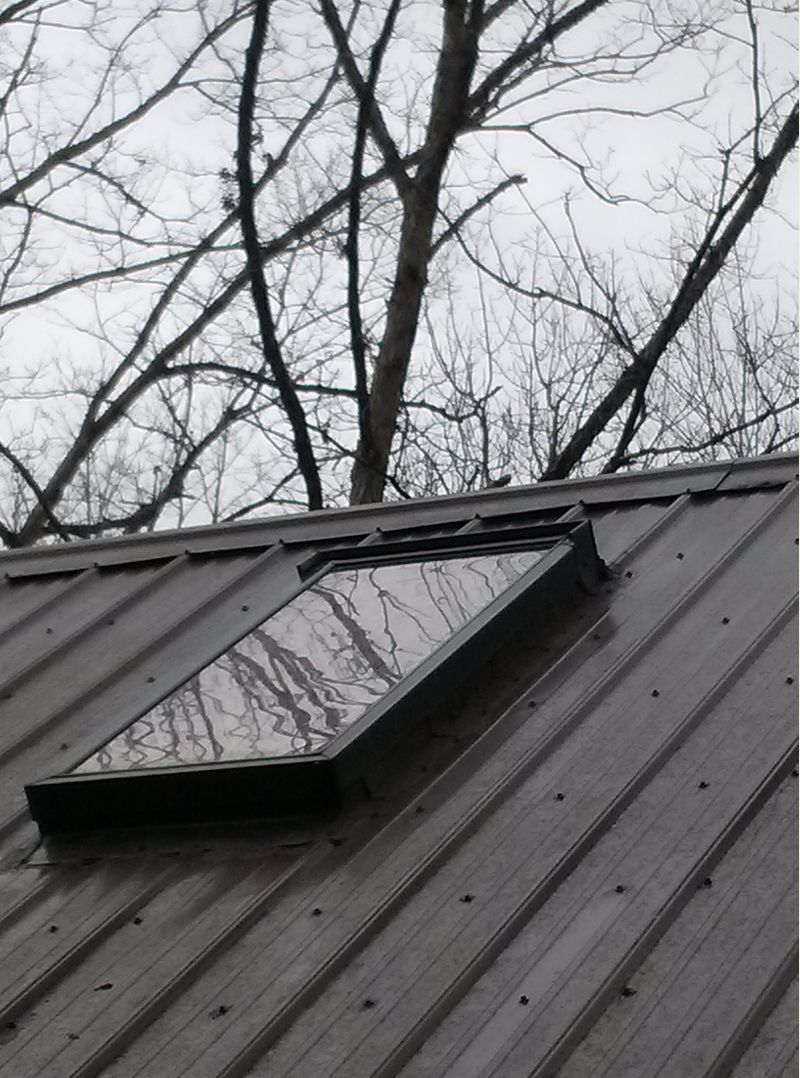 Metal Roof Flashing For Skylights Small Cabin Forum