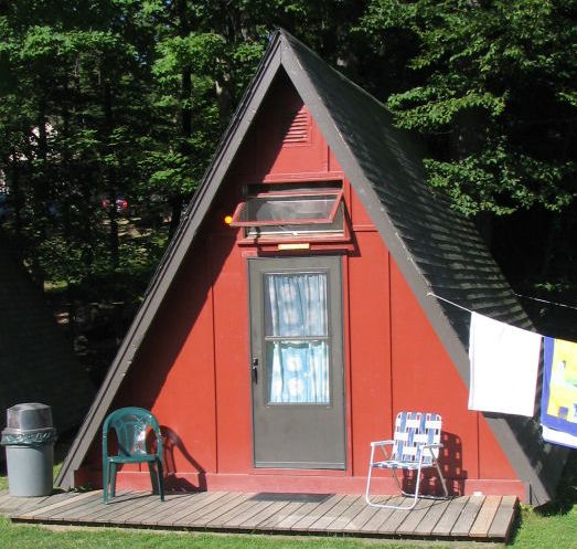 Found pic of an a frame hut i want to build 16x16 small for Framing a small cabin