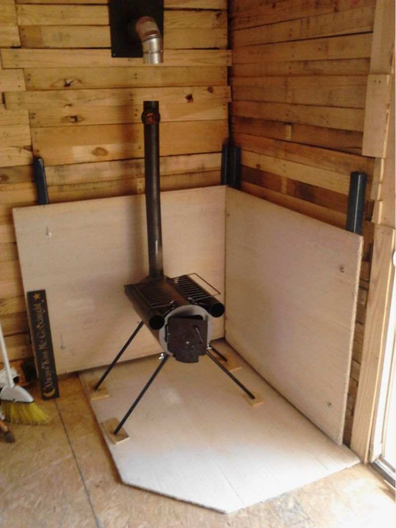 Heat Shield For Wood Stove | WB Designs