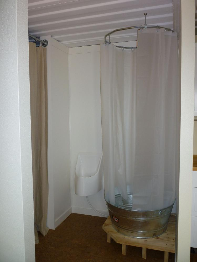 Diy indoor camp shower small cabin forum for D i y bathroom installations