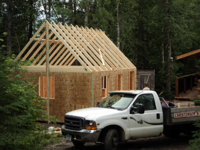 Another cabin going up 16 39 x 20 39 loft small cabin forum 1 for 14x14 cabin with loft