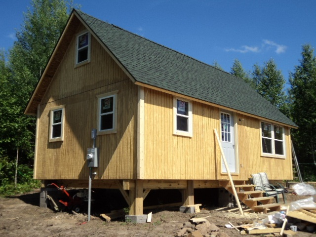 14x14 foundation small cabin forum for How to level a house