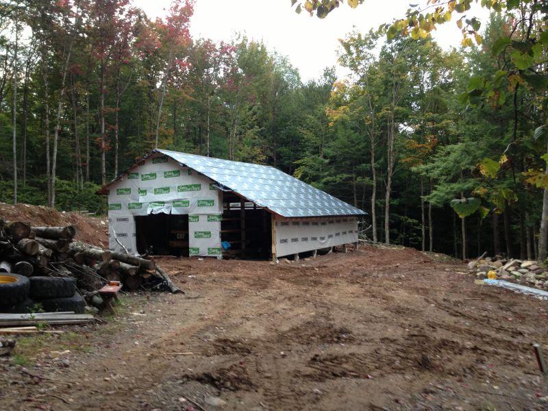 Pole barn construction small cabin forum for Pole barn cabin