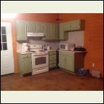 Kitchen paid $100 for cabinets and refinished