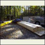 Lumber arrived.