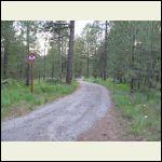 Graveled upper road
