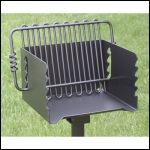 BBQ on a swivel stand