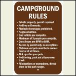Camp Ground Rules