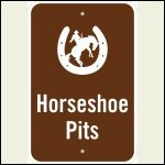 Horseshoe pit sign