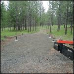 Park Shelter pad with footers.