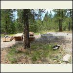 Foundation in place, lumber pkg delivered