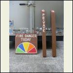 Danger plus site markers