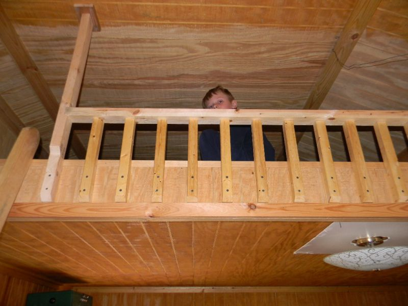 Railings On A Loft Suggestions Small Cabin Forum